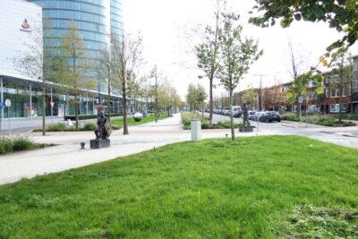 Eine breite Allee in Utrecht